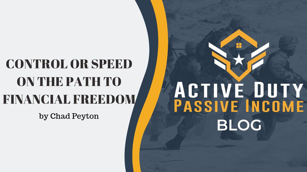 The Path to Financial Freedom - Control or Speed