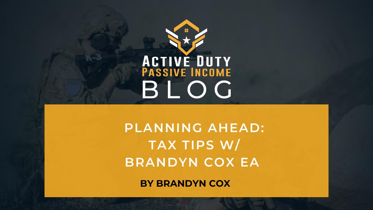 Planning Ahead: Tax Tips with Brandyn Cox EA