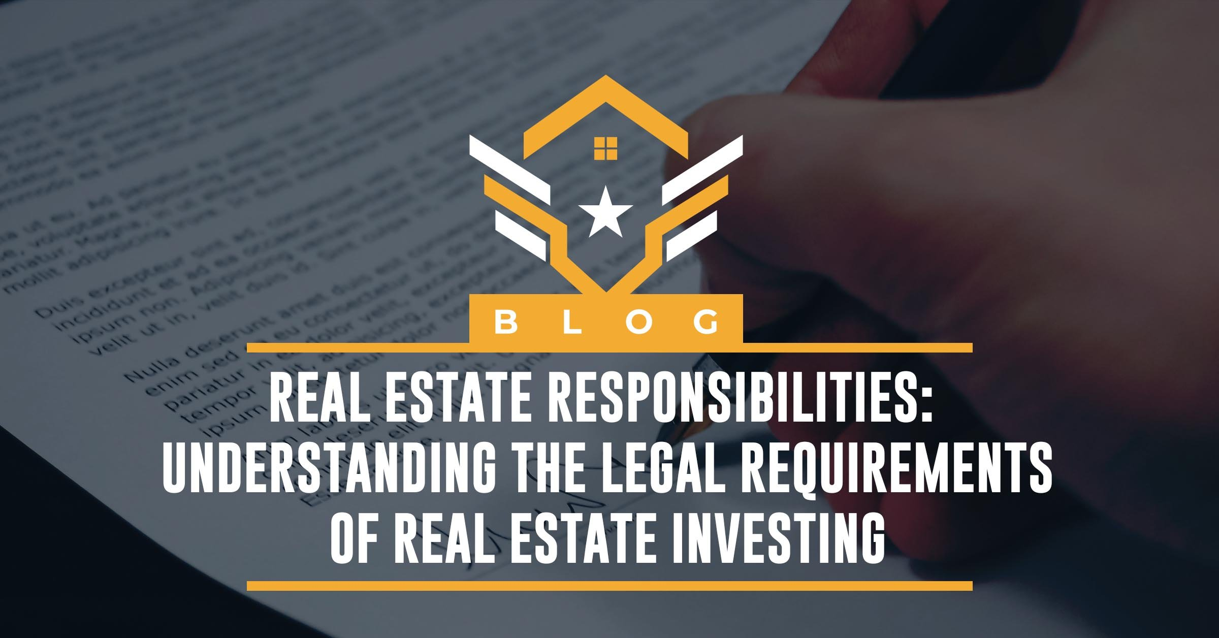 legal requirements of real estate